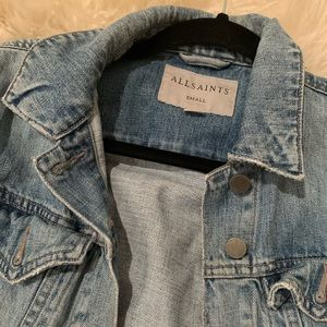 All saints jean jacket size small